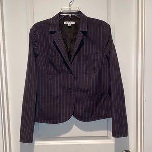 Cabi Nob Hill Gray & White Pin Striped Blazer